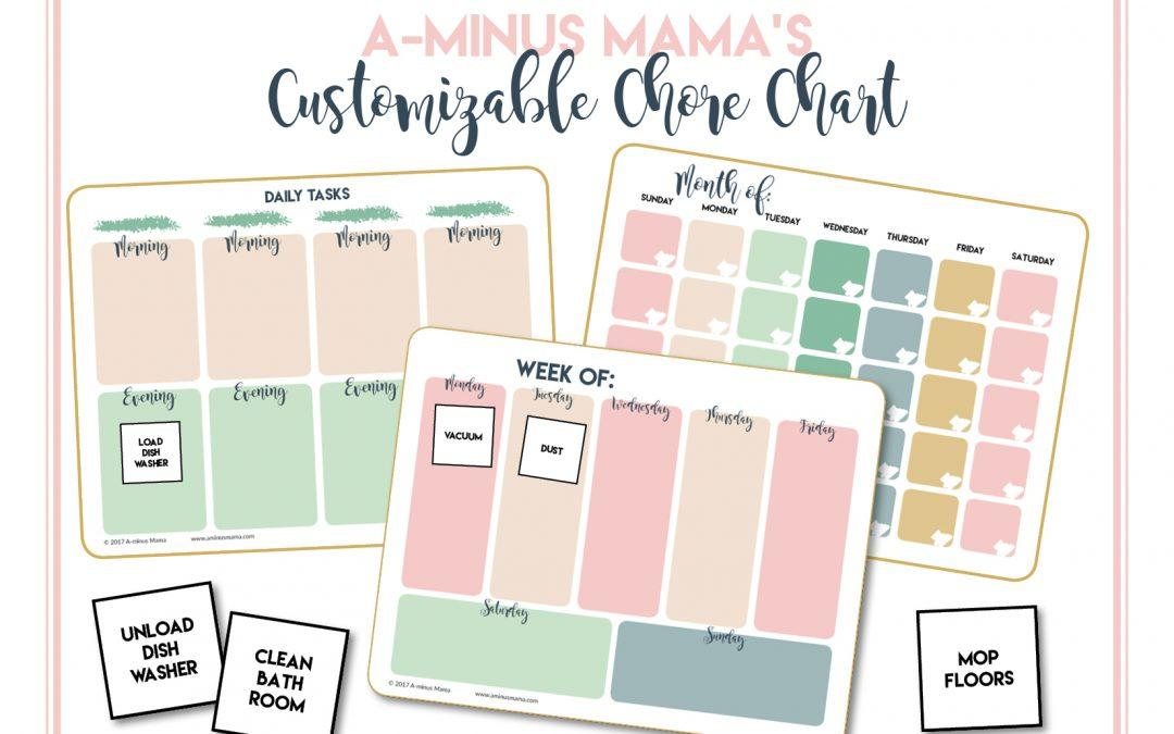 Free Download: Customizable Chore Chart
